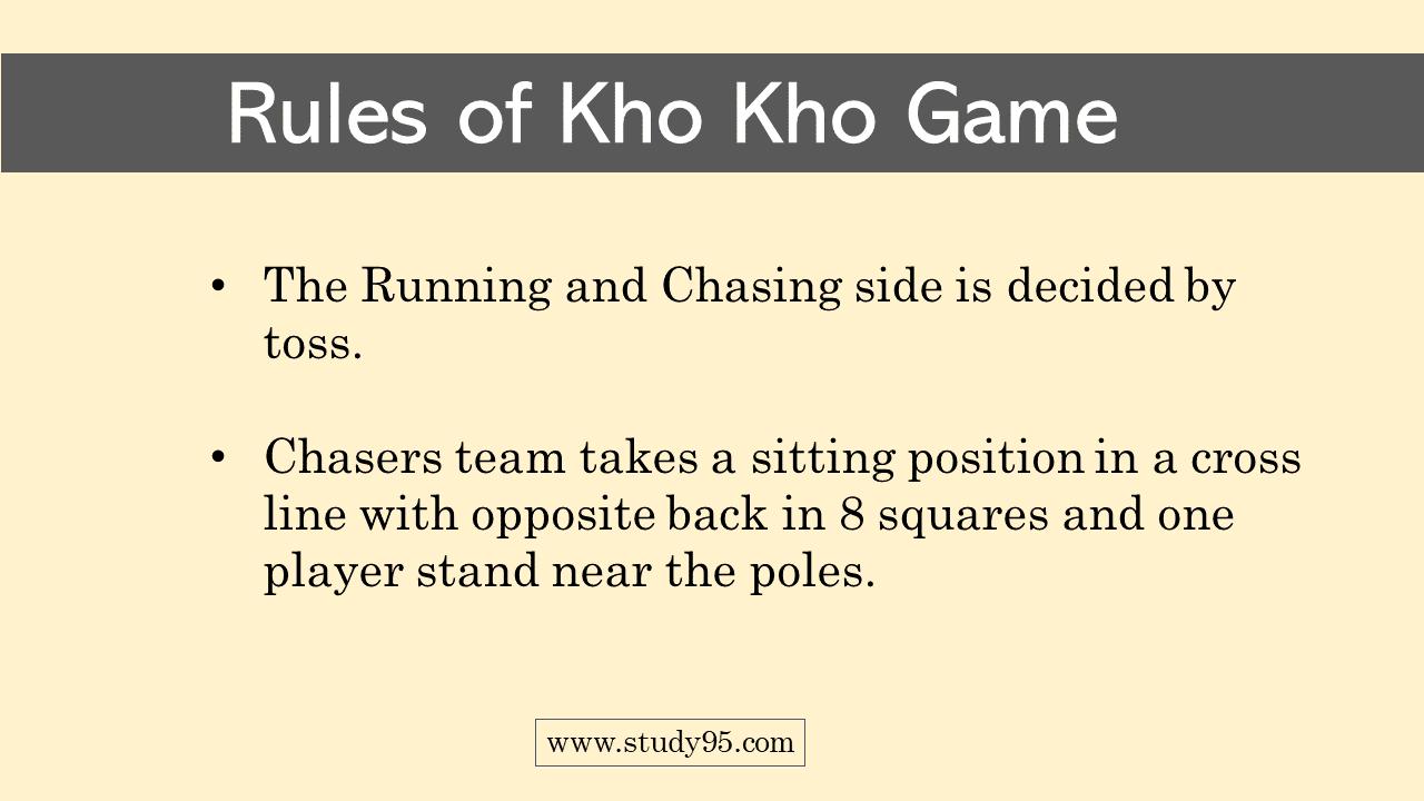 Kho Kho Game Rules