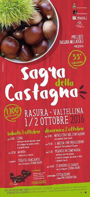 Sagra della Castagna 1-2 ottobre Rasura (SO) 2016