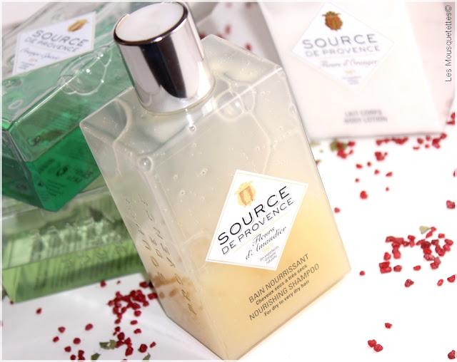 Sources de Provence, Shampoing nourrissant cheveux secs - Eau de Beaupré - Blog beauté Les Mousquetettes©