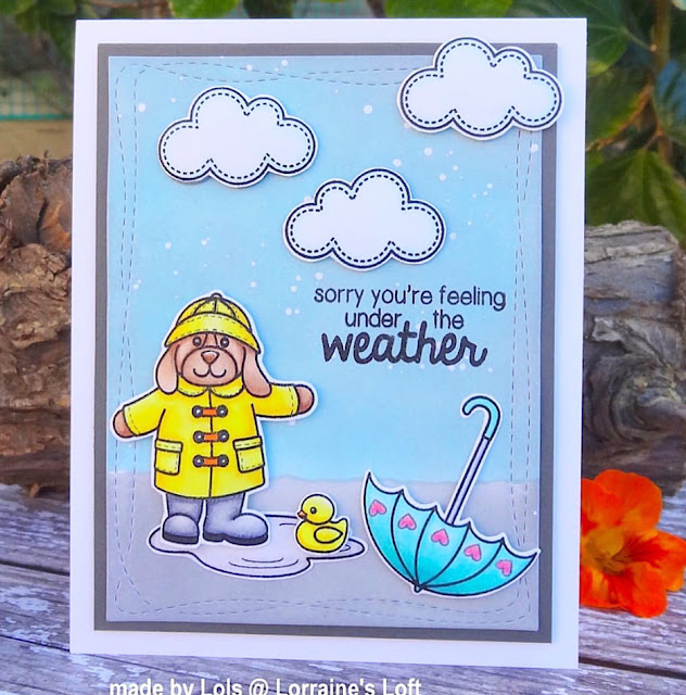 Sunny Studio Stamps: Rain or Shine Customer Card Share by Lorraine Aquilina