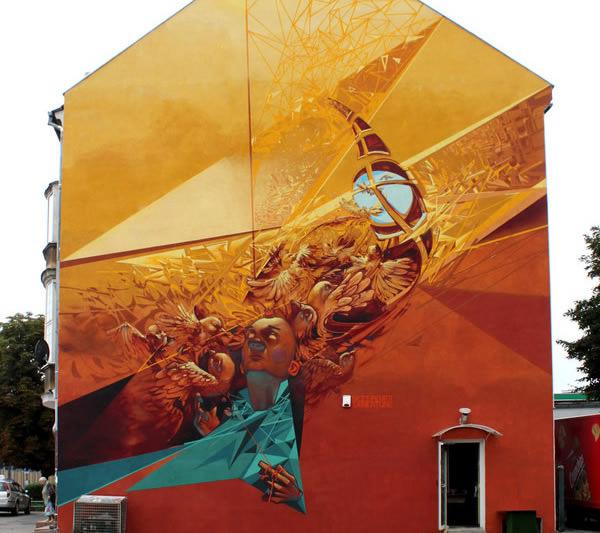 Grafiti atau Lukisan Dinding burung