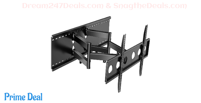Full Motion TV Wall Mount for Most 37-80 Inch TVs 53% OFF
