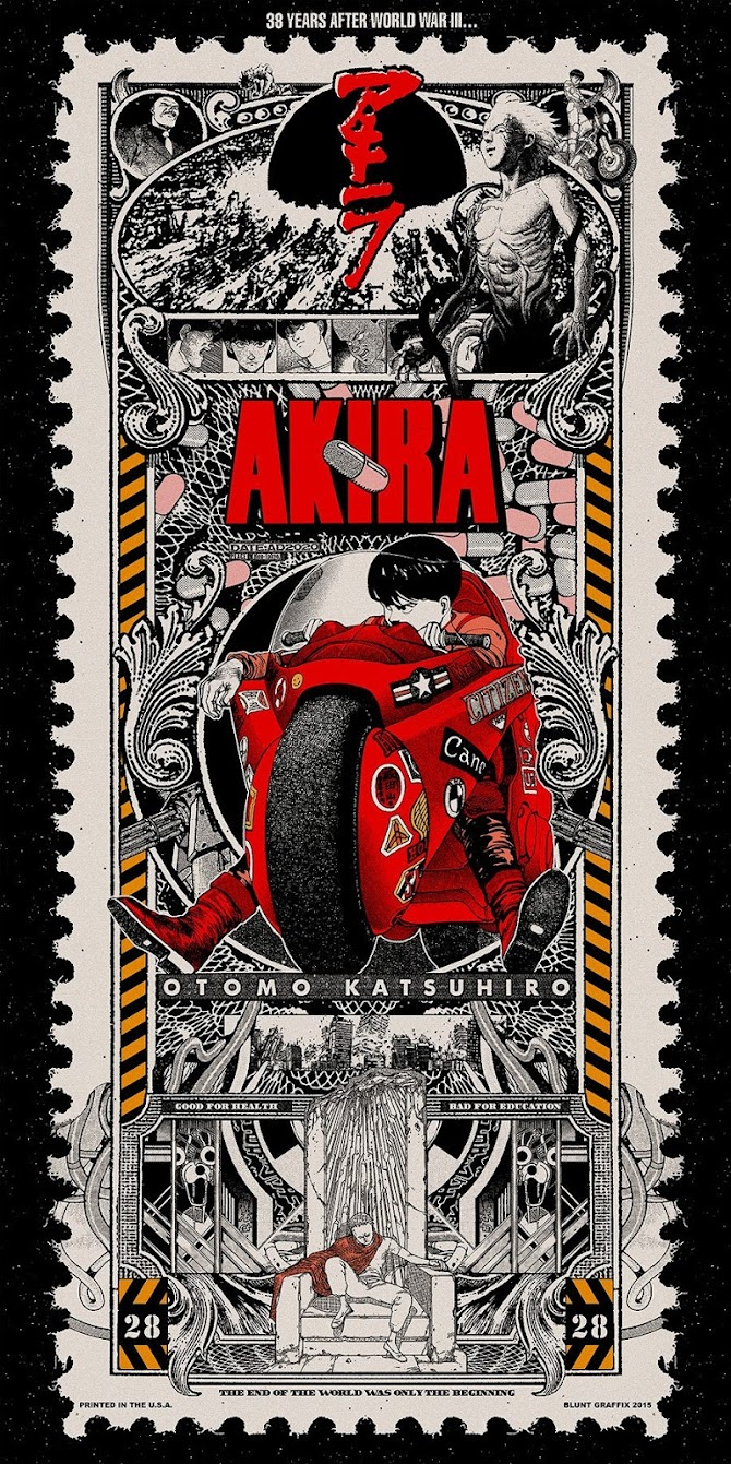 Incredible Akira Postage Stamp Illustration by Blunt Graffix.