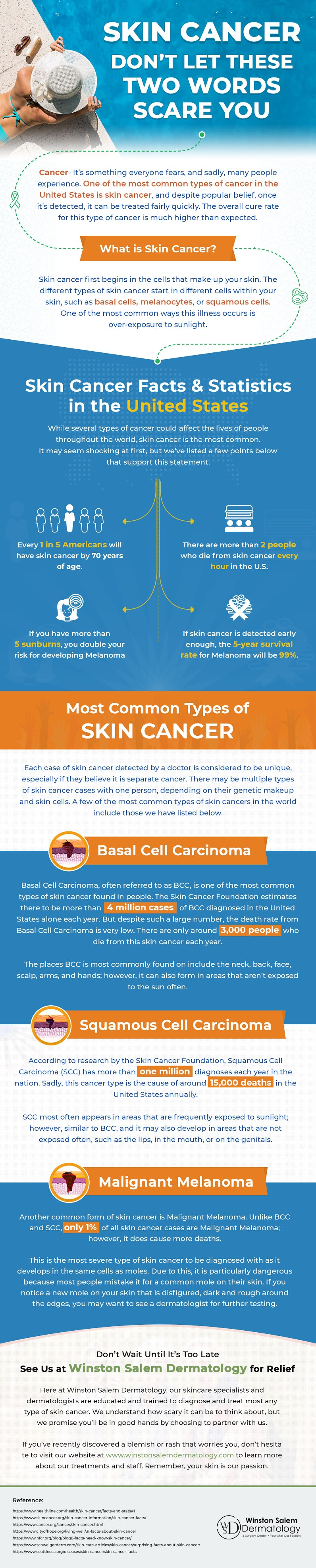 Skin Cancer – Don't Let These Two Words Scare You #infographic #skin care #infographics #Skin Cancer