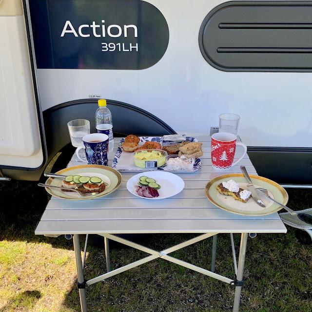 Camping med Adria Action på Nystrup Camping Klitmøller