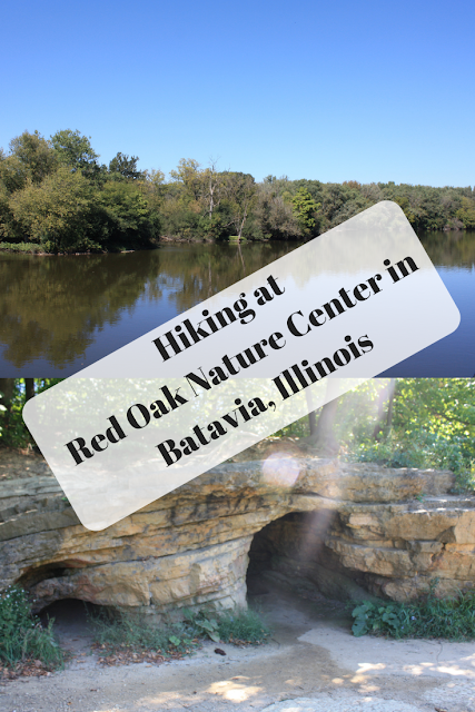 Hiking at  Red Oak Nature Center in Batavia, Illinois