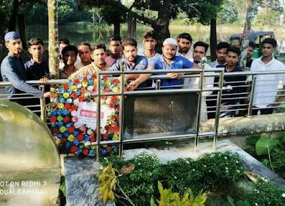 বাবু ভাইয়ের কবরে শ্রদ্ধা নিবেদনের মধ্য দিয়ে বঙ্গবন্ধু শিশু কিশোর মেলার শুভ সূচনা