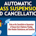 Rules on the Cancellation or Suspension of Classes