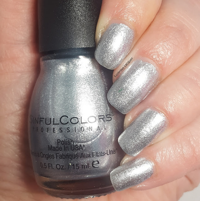 Silver metallic foil nail polish 2018 core line addition color exclusive for Walgreens