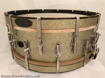 ca. late 1920s - early 1930s Stone Master-Model Drum in Sparkling Silver Pyralin