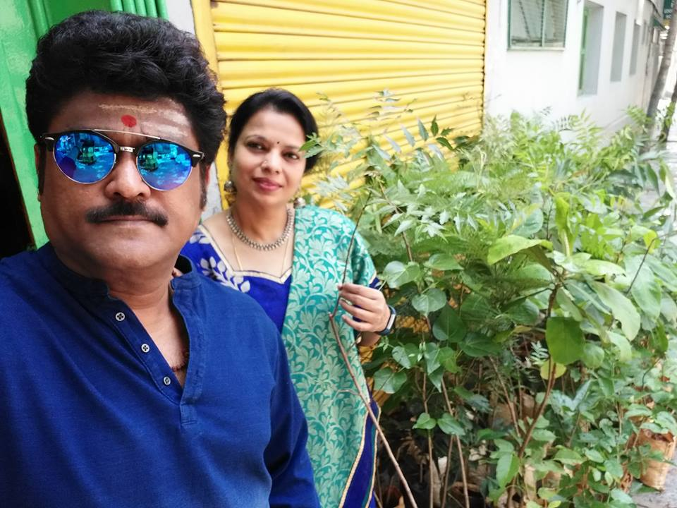 Image result for jaggesh with wife