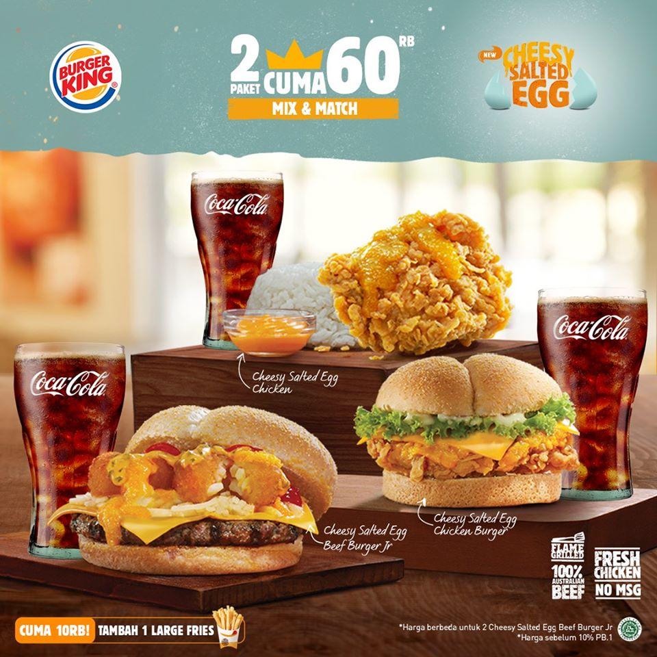 Promo Burger King 2 Menu Cuma 60 Ribu