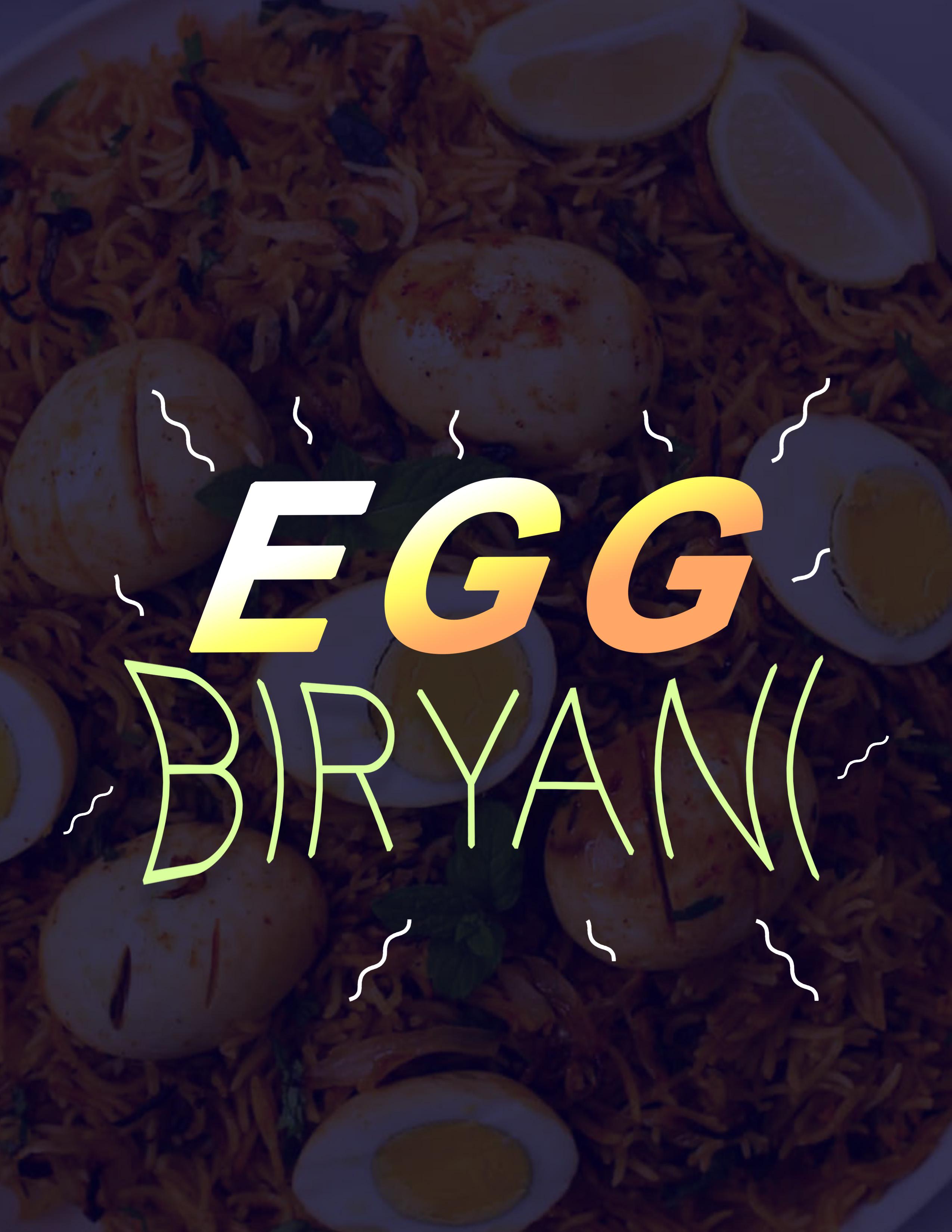 Egg biriyani flyer