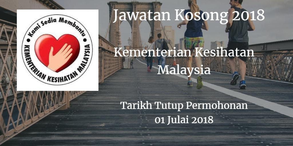 Jawatan Kosong KKM 01 Julai 2018