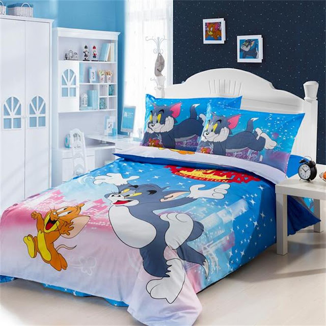 desain tempat tidur tom and jerry keren