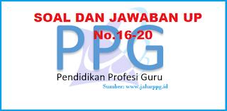 Berikut soal latihan UP PPG beserta jawabannya PPG 2020/2021 :  Soal dan Jawaban UP PPG 4