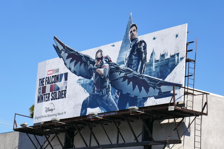 Marvel Falcon and Winter Soldier billboard