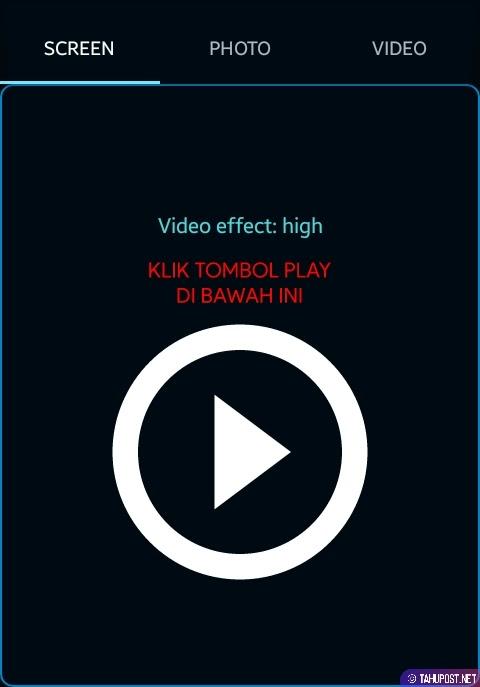 Klik Tombol Play Projector - Cara Menampilkan Layar HP ke Laptop