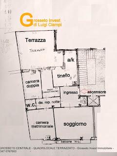 grosseto-centrale-quadrilocale-vendita-terrazza-grande-box-auto,quadrivani,Grosseto Invest Immobiliare