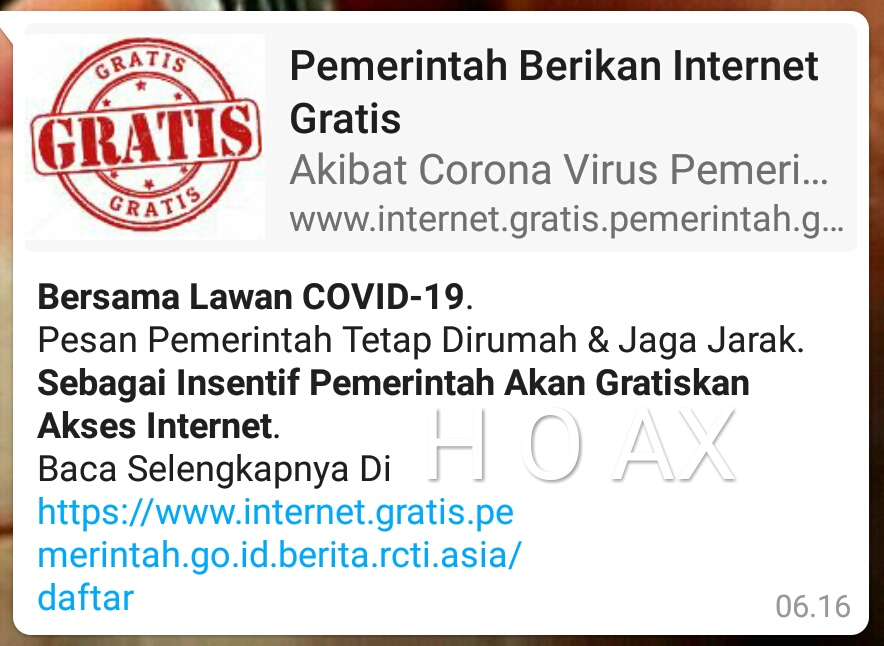 "Jebakan HOAX ""Internet Gratis"""