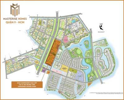 Vị trí dự án căn hộ Masteri Centre Point Quận 9