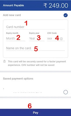 dabit atm card ki details enter kar pay par click kare