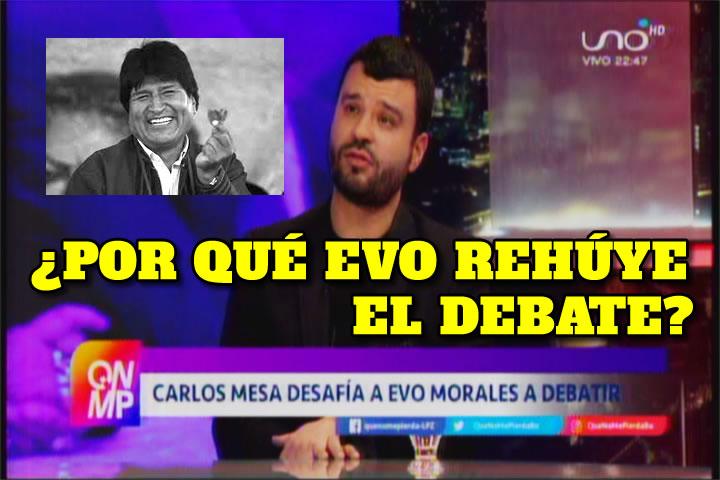 VIDEO: EVO MORALES REHUYE EL DEBATE POLÍTICO