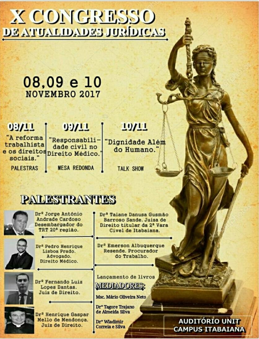 X Congresso de Atualidades Jurídicas