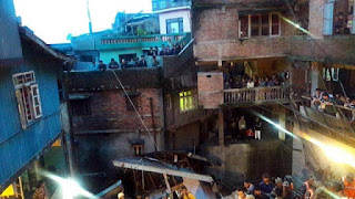 Old building collapse in Darjeeling