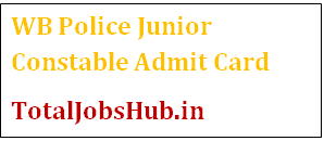 WB Police Junior Constable Admit Card 2017