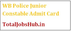 WB Police Junior Constable Admit Card 2017