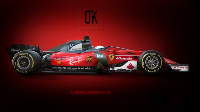 2018 Ferrari SF18 Halo Rendered - #Ferrari #f1 #motorsport