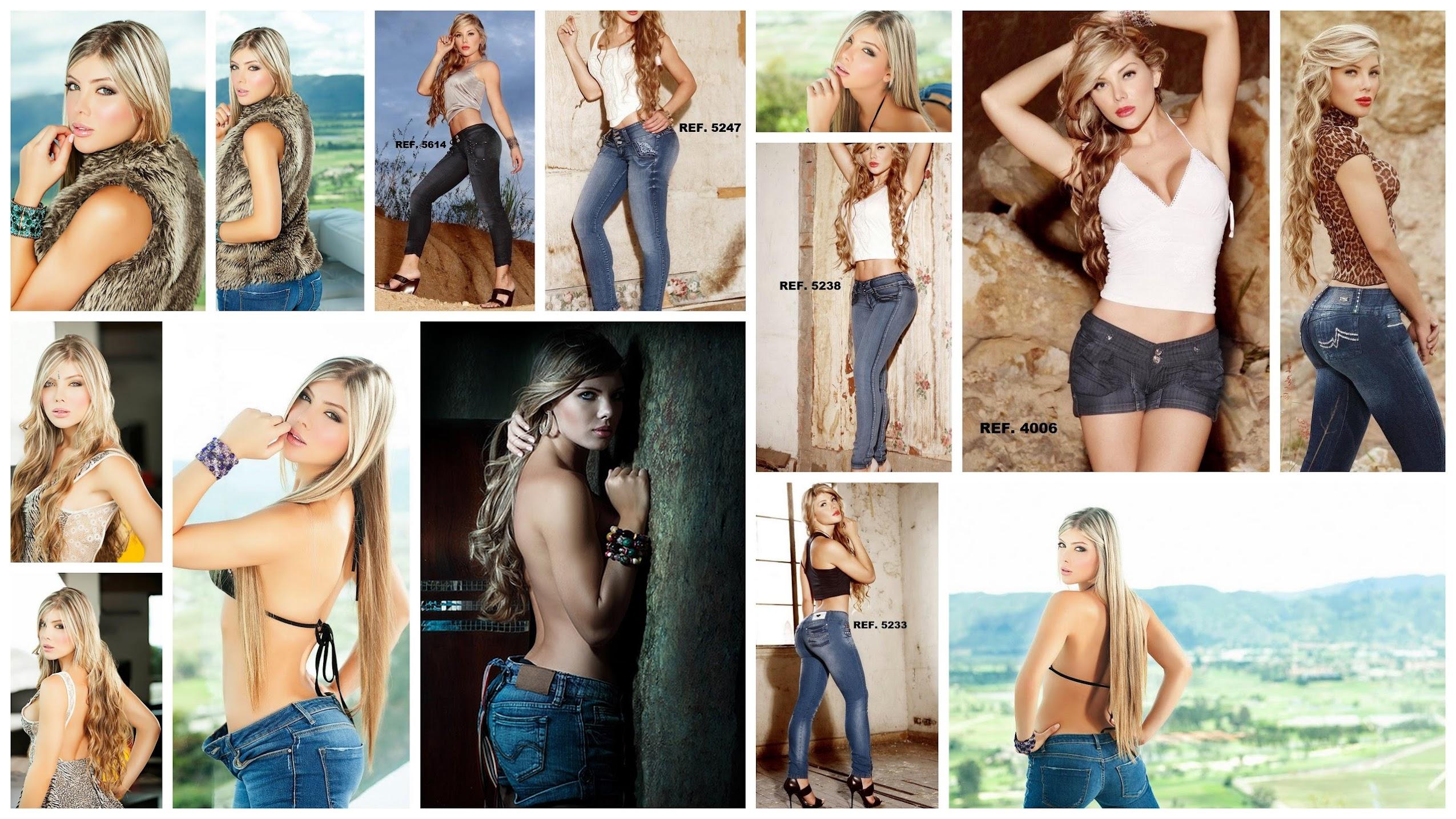 Modelando Sexy Jeans, Imágenes De Sofia Jaramillo Foto 1