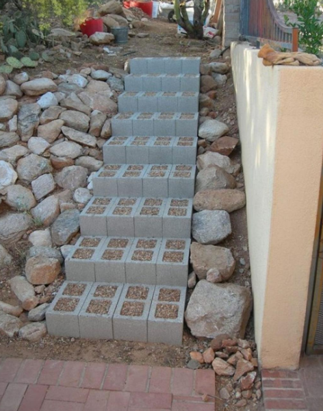 20 decoration ideas to make with concrete blocks 29