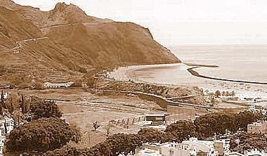 Playa de las teresitas ayer y hoy isla de tenerife v vela - Constructoras tenerife ...