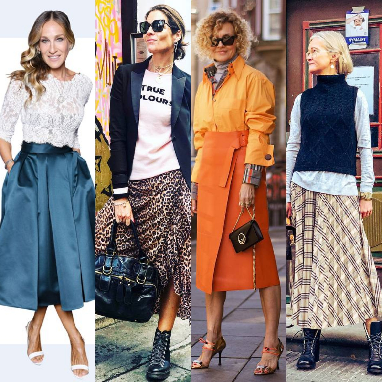 Not looking matronly in skirts:  Sarah Jessica Parker and fashion influencers over 40