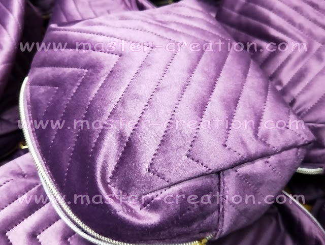 purple velvet makeup bag