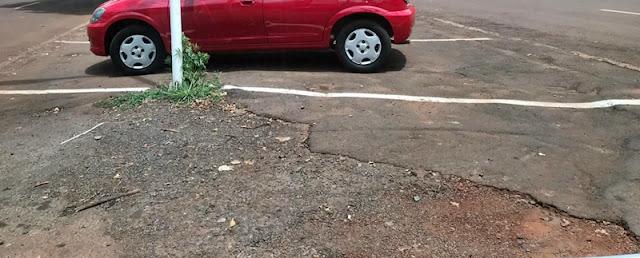 Roncador: Cadê o canteiro central da Avenida São Pedro?