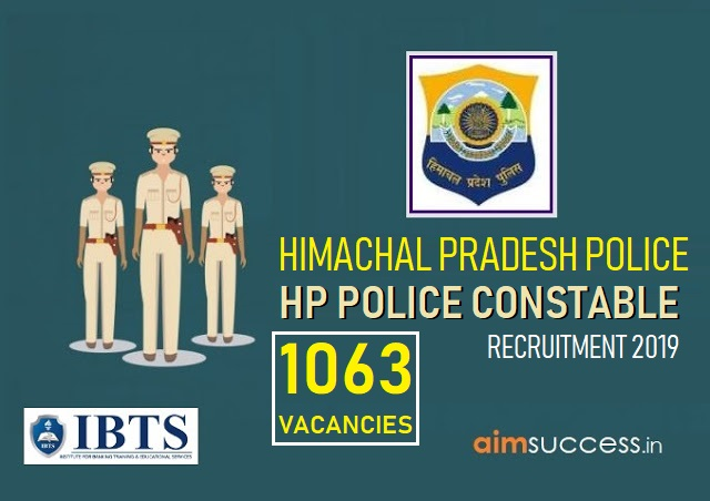 HP Police Constable Recruitment 2019 1063 Vacancies (Apply Now)