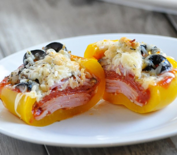 KETO SUPREME PIZZA STUFFED PEPPERS #healthy #diet
