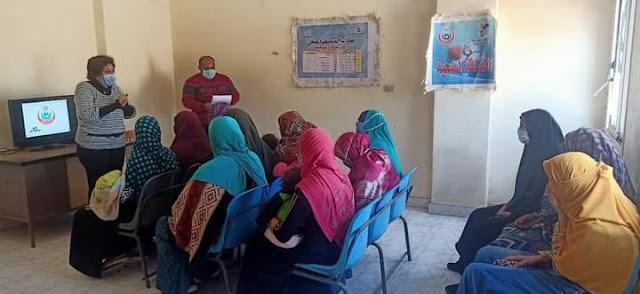 صحة المنيا: فحص وعلاج 1857 حالة خلال قافلة بقرية دمشاو هاشم