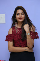 Pavani Gangireddy in Cute Black Skirt Maroon Top at 9 Movie Teaser Launch 5th May 2017  Exclusive 076.JPG