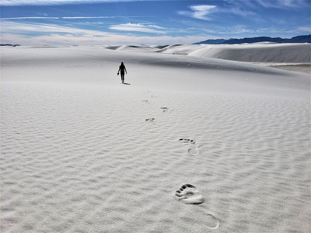 footprints white sands national park new mexico