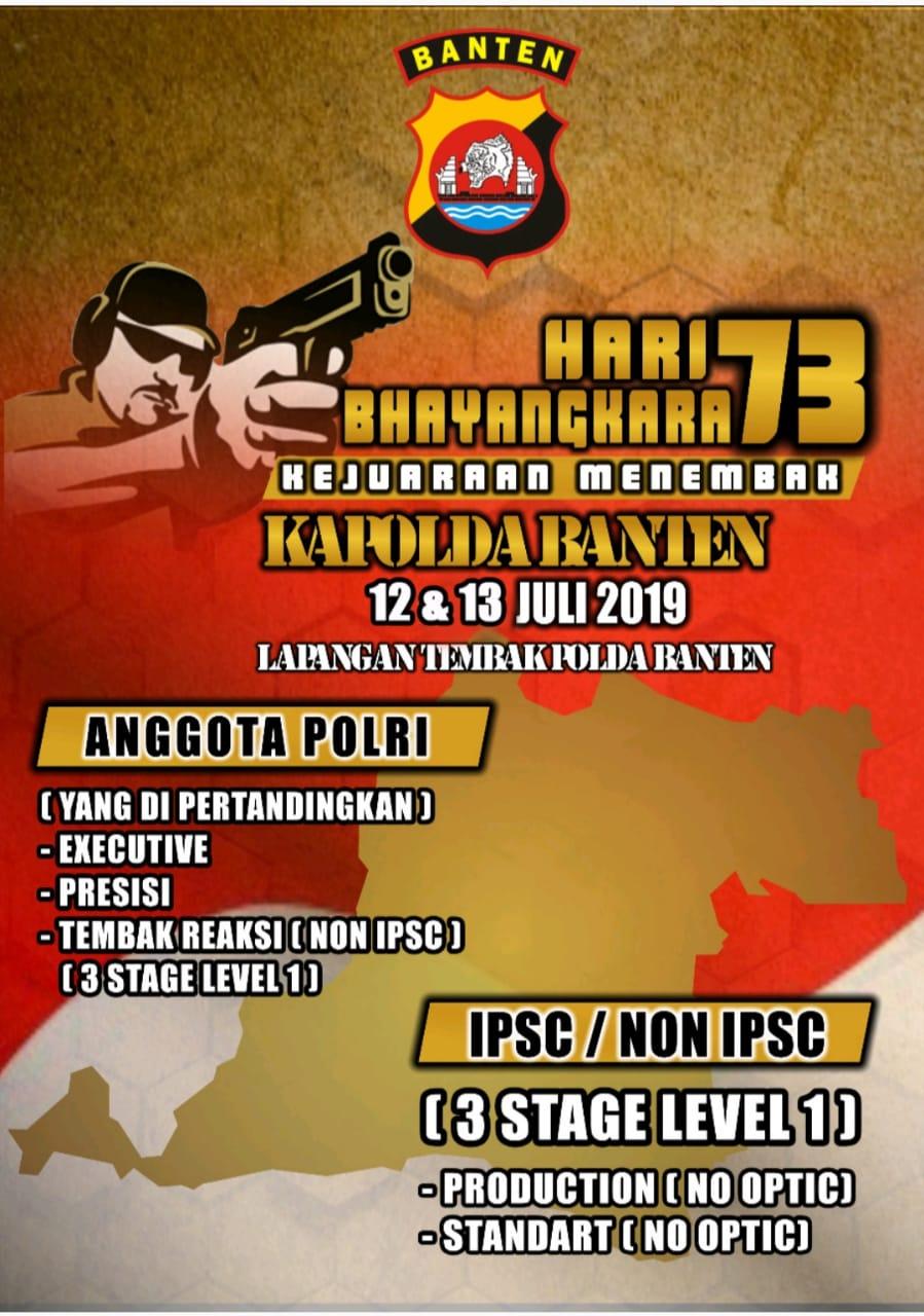 Meriahkan Hari Bhayangkara ke-73,  Polda Banten kembali adakan Kejuaraan menembak Kapolda Banten Open 2019
