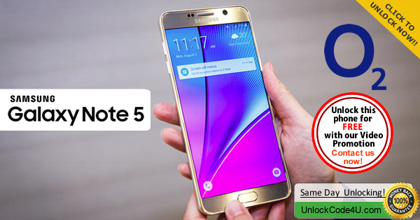Factory Unlock Code Samsung Galaxy Note 5 from O2