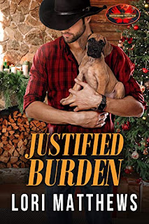 Justified Burden: Brotherhood Protectors World - a romantic suspense holiday novel book marketing by Lori Matthews