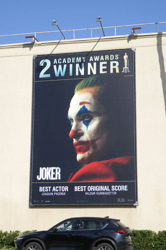 Joker 2 Academy Awards winners billboard