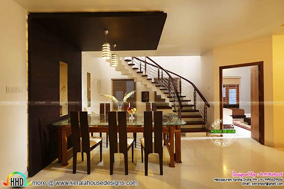 February 2016 kerala home design and floor plans for Dining room designs kerala