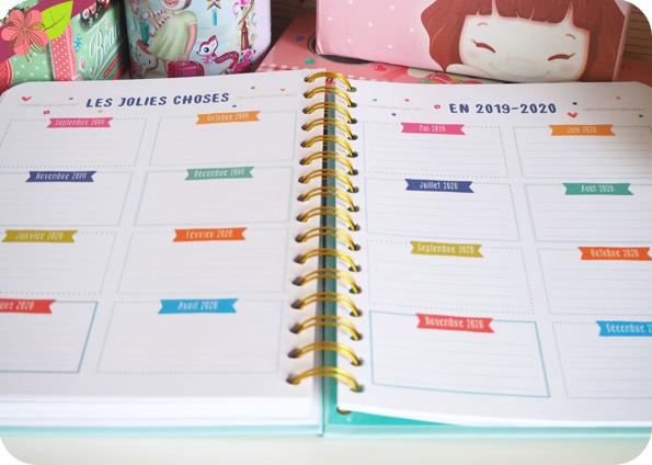 L'agenda de ma vie bien organisée 2019 - 2020 - éditions 365