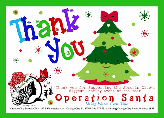 We are incredibly grateful for everyone who supported Operation Santa...what a difference you made!!